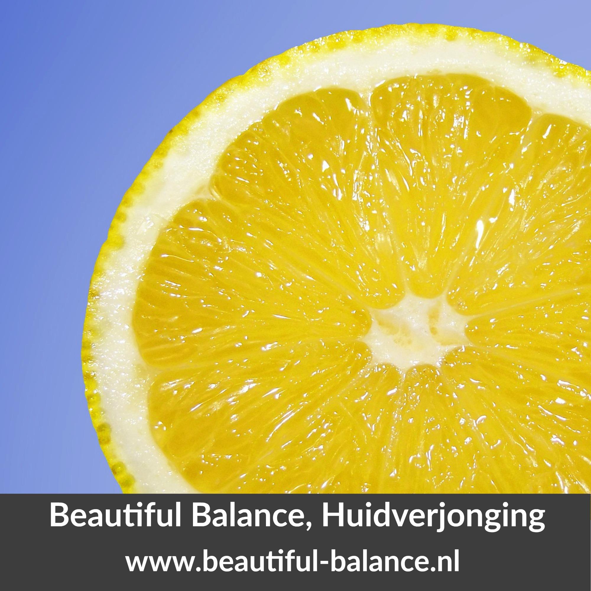 citroen goed voor huid