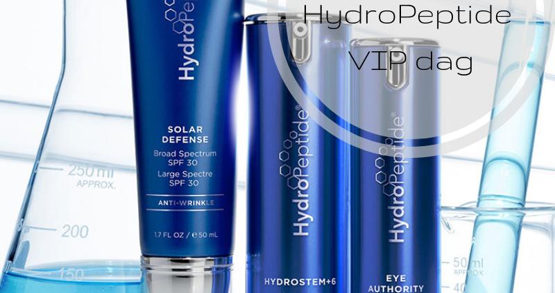 Uitnodinging HydroPeptide VIP dag