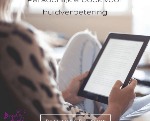 Persoonlijk e-book voor huidverbetering